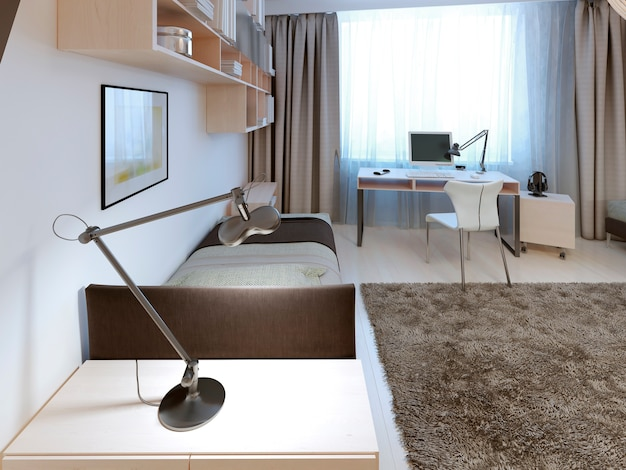 Design della camera da letto dei ragazzi.