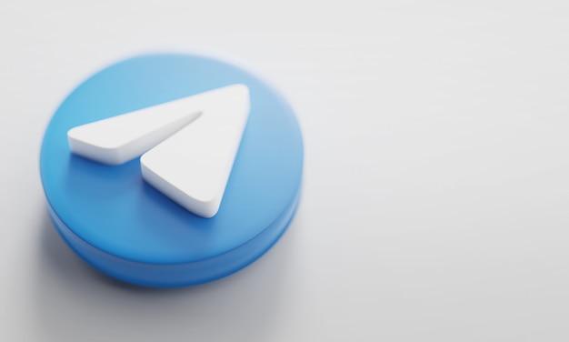 Fine della rappresentazione di telegram 3d in su.
