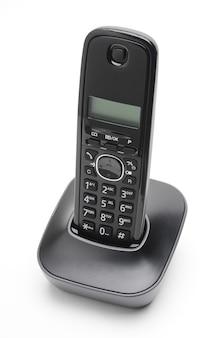 Cornetta telefonica per chiamate verso linee urbane e interurbane su fondo bianco