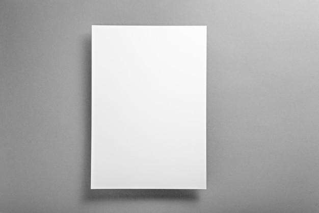 Concetto di modello, layout vuoto bianco su sfondo grigio finale
