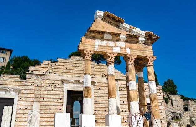 Tempio della triade capitolina a brescia, italia