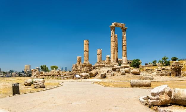 Tempio di ercole della cittadella di amman, jabal al-qal'a - giordania