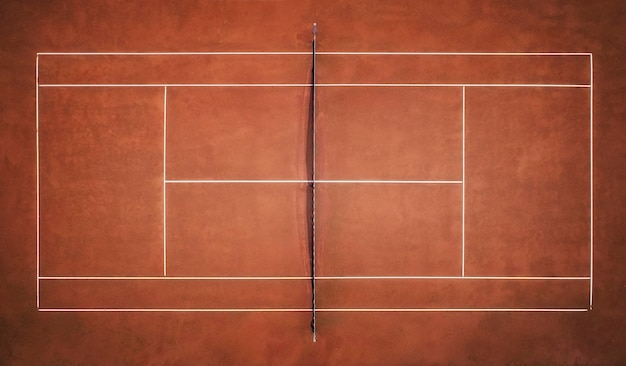 Campo da tennis in terra battuta