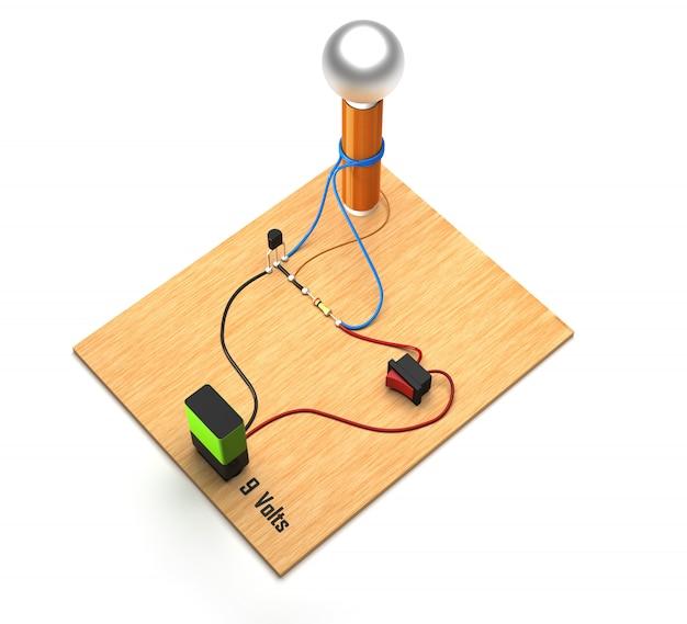 Esperimento con bobina di tesla