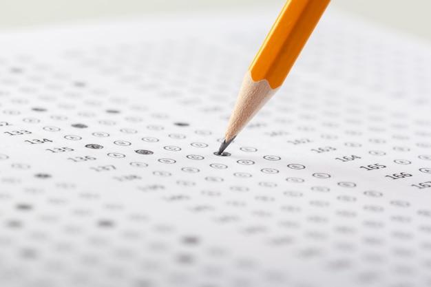 Test del foglio dei punteggi con le risposte