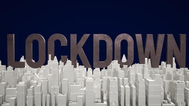 Il blocco del testo e la costruzione della città per il rendering 3d di contenuti medici