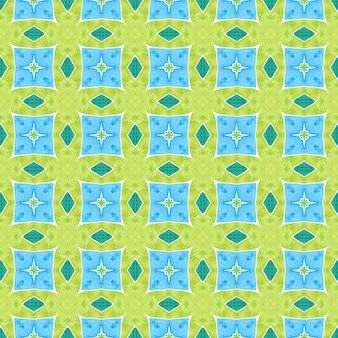 Bella stampa tessile pronta, tessuto per costumi da bagno, carta da parati, involucro. prezioso design estivo boho chic verde. reticolo dell'acquerello di chevron. bordo dell'acquerello chevron geometrico verde.