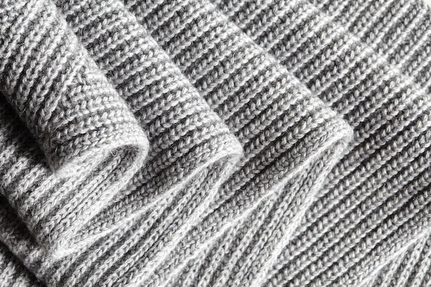 Trama tessile di tessuto a maglia di lana grigia