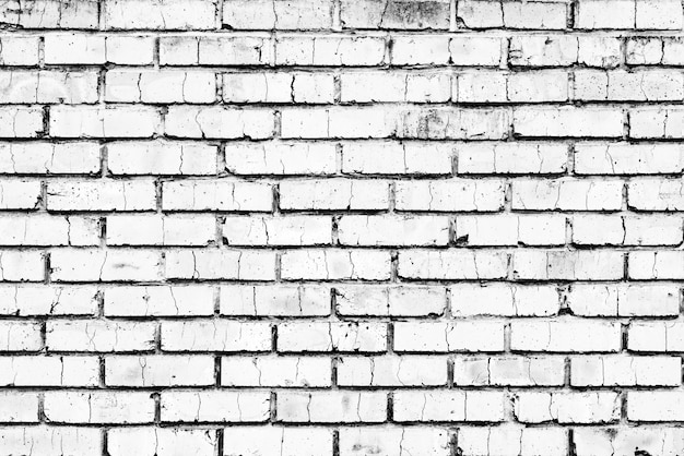Texture, mattoni, parete di fondo. texture di mattoni con graffi e crepe