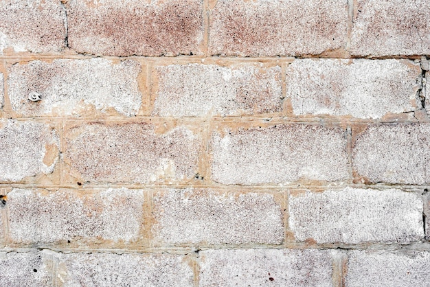 Texture di un muro di mattoni con crepe e graffi che possono essere utilizzati come sfondo