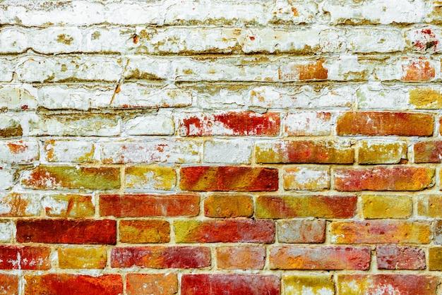 Texture di un muro di mattoni con crepe e graffi che può essere utilizzato come sfondo