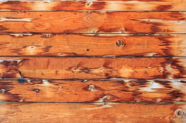 Texture di assi di legno stagionato marrone. fondo in legno astratto