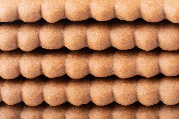 Struttura del biscotto marrone cioccolato sfondo.