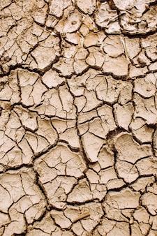 Texture di terra screpolata, riscaldamento globale, trama di erosione