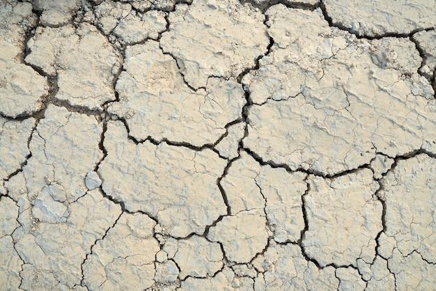 Consistenza dell'argilla scoppiettante nel deserto.