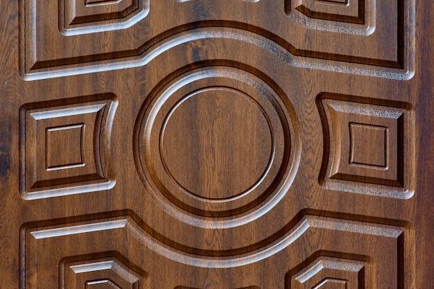 Struttura della porta con un primo piano geometrico del modello del fondo