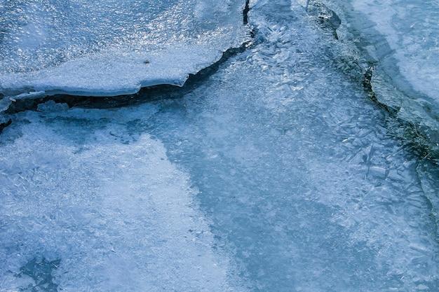 Consistenza della superficie del ghiaccio. sfondo invernale
