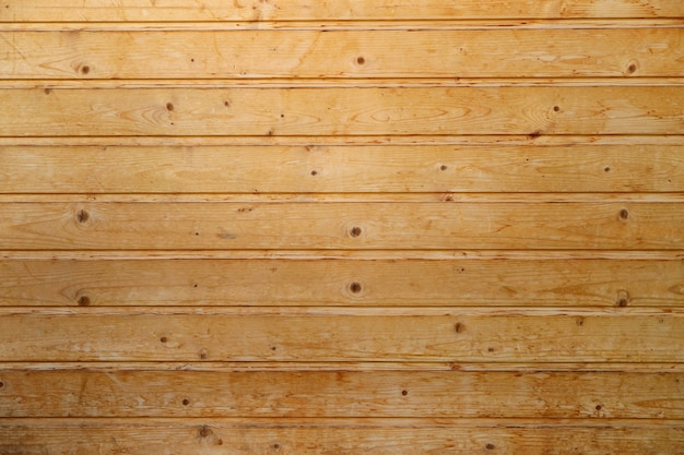Struttura della parete in legno vecchio modello orizzontale marrone chiaro