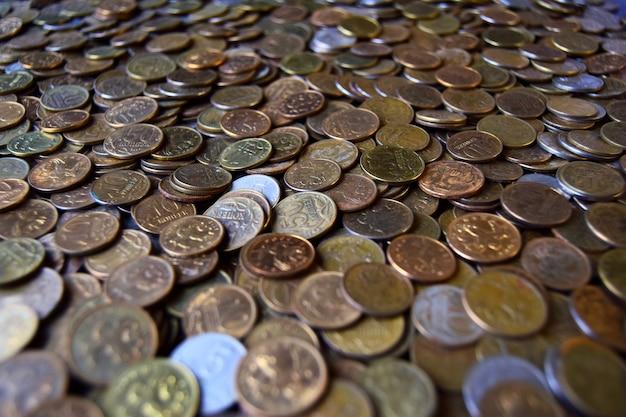 Texture di un sacco di monete russe