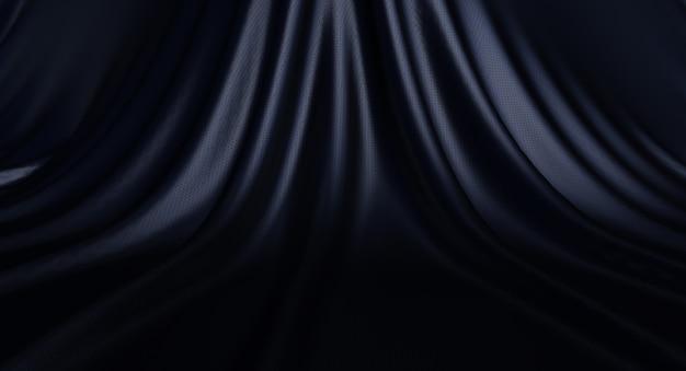 Texture, sfondo texture di lusso in pelle nera, rendering 3dd