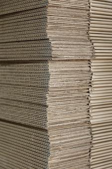 Texture di molte nuove scatole di cartone per il riciclaggio