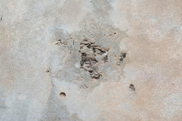 La trama dei vecchi muri di cemento grigio per lo sfondo, la superficie e il motivo del cemento grigio.