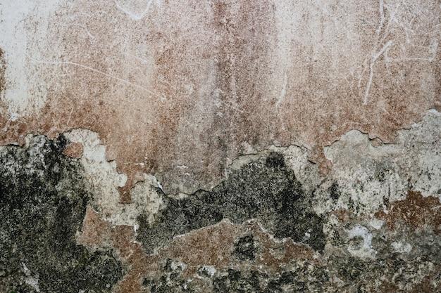 Trama del vecchio grunge, sporco, polvere e muro di cemento cemento graffiato per sfondo