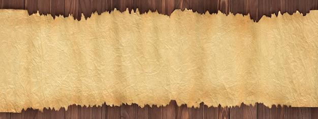 Texture della vecchia carta sul tavolo come sfondo per il testo