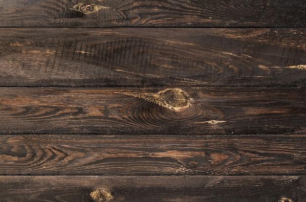Struttura del vecchio fondo di assi di legno marrone misero con fori di nodi. pavimento di legno.