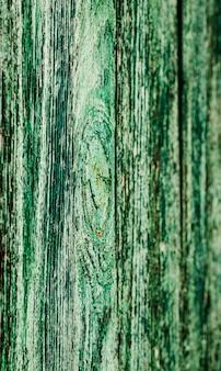 Texture di vecchi cumuli di legno di colore verde