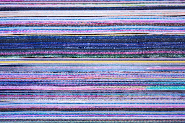 Texture delle pagine del bordo del libro, diario impilato, foto macro