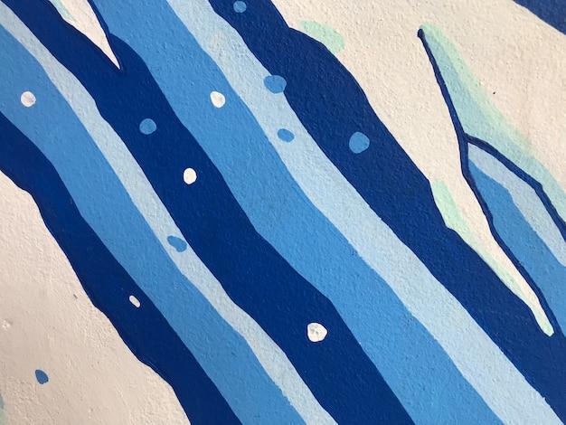 Texture di intonaco ruvido bianco e blu. sfondo astratto architettonico.