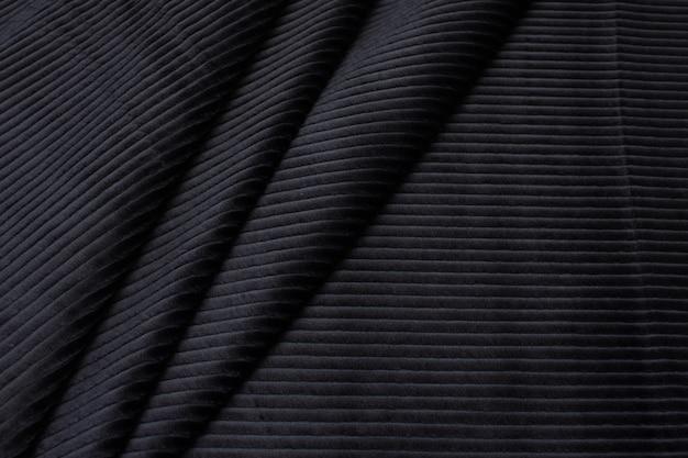 La trama del tessuto di viscosa è nera. vellutino.