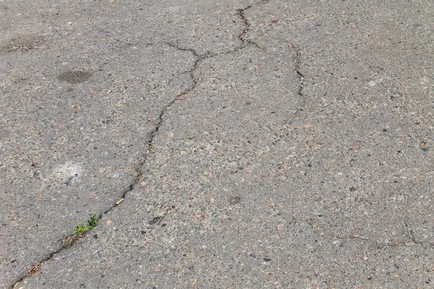 Texture con crepe su sfondo asfalto