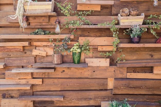 Texture cose da giardino in legno