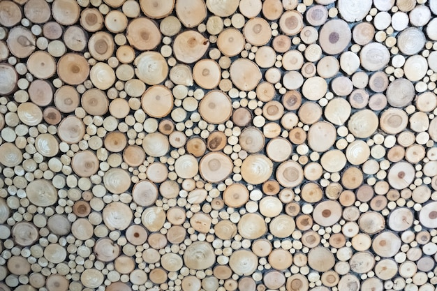 Texture di tronchi di legno usati come pattern senza soluzione di continuità