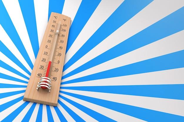 Termometro su sfondo grunge come concetto di temperatura ambiente. rendering 3d