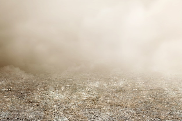 Nebbia fitta con sfondo bianco