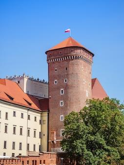 Torre del ladro nel castello in una soleggiata giornata estiva