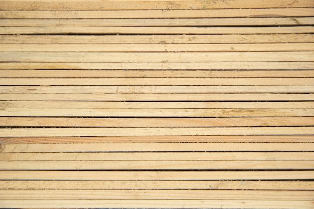 Sottili doghe in legno di legno chiaro si trovano l'una vicino all'altra orizzontalmente. vista dall'alto. sfondo e trama.