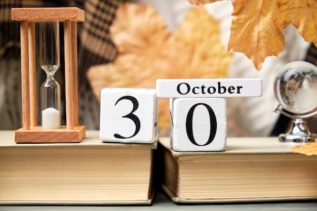 Trentesimo giorno del mese di autunno del calendario ottobre