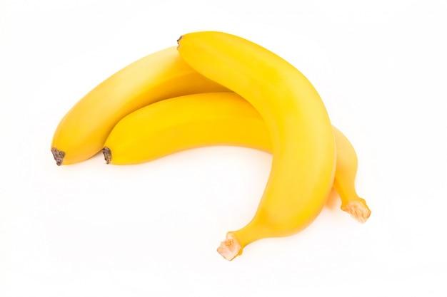 Tre banane isolate