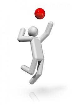 Simbolo tridimensionale di pallavolo