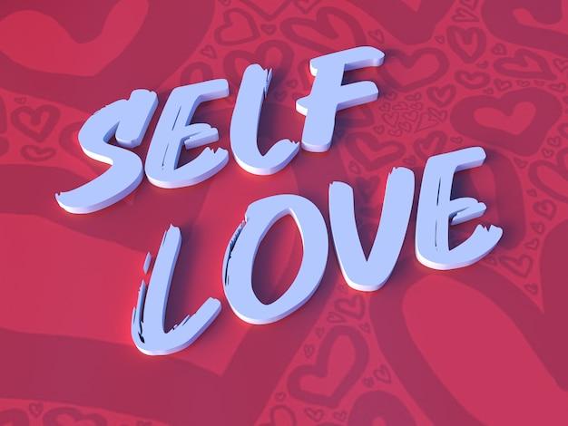 Citazione ispiratrice tridimensionale amore per se stessi citazione 3d foto premium