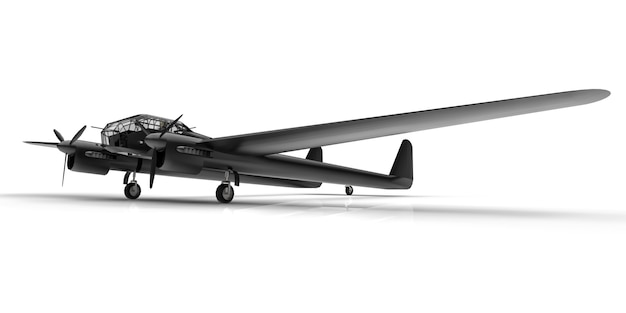Modello tridimensionale dell'aereo bombardiere della seconda guerra mondiale