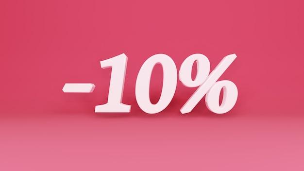Segno tridimensionale sconto del 10% in commercio