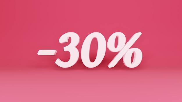 Segno tridimensionale sconto del 30% in commercio