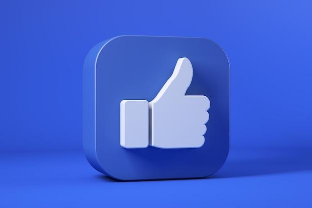 Icona del pollice in alto, icona di facebook