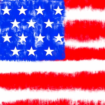 Tie dye bandiera americana sfondo colore rosso e blu