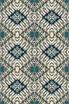 Disegno colorante cravatta. ornamento tessile astratto. denim, oro, arredamento bohemien astratto bianco. macchie di carta.